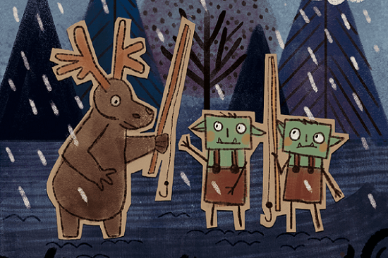 The Moose fishing with the Crafty Goblins.